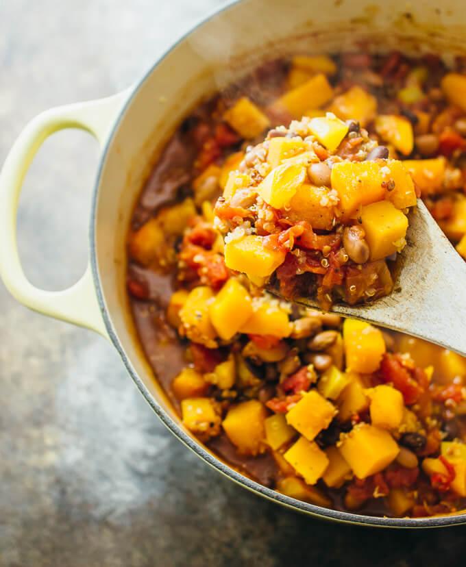 butternut-squash-chili-in-pot-overhead